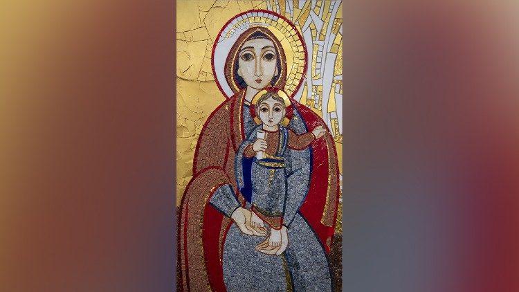 A imagem de Maria criada pelo Padre Rupnik